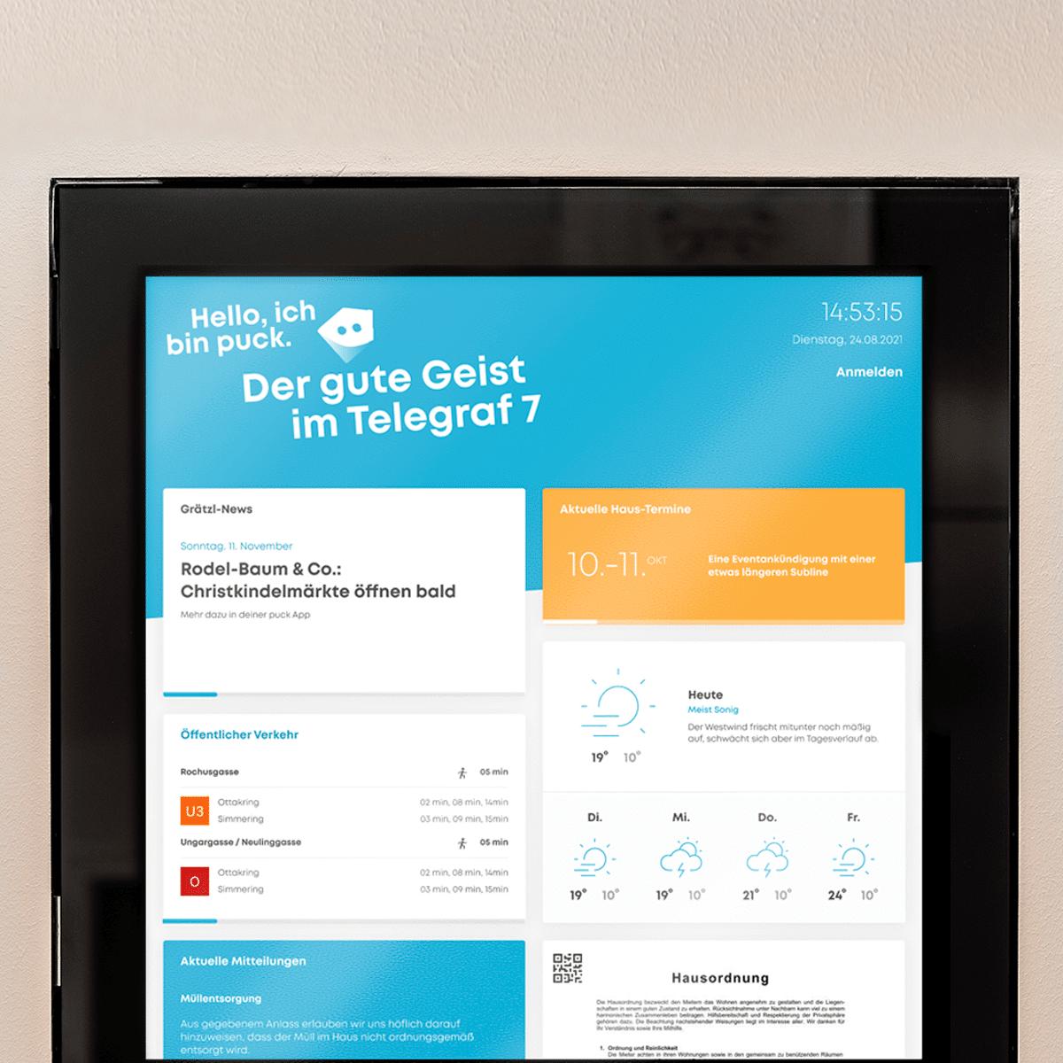 Screenshot der neuen puck Smart 2.0 Software
